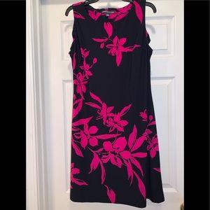 Navy/pink dress